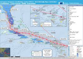 St Martin Map Overall Red Tropical Cyclone Alert For Irma 17 In United States