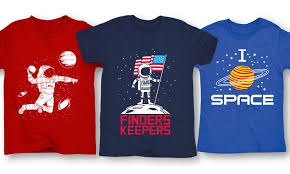 themed t shirts boys space graphic t shirts groupon goods
