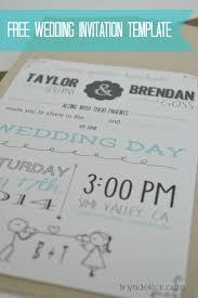 simple wedding invitations templates free iidaemilia com