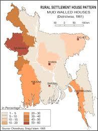 Map Of Bangladesh Rural Settlement House Pattern Survey Of Bangladesh 1981