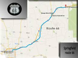 Map Of Route 66 by Route 66 Midpoint To Chicago