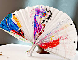 make a cute decorative fan paper craft for kids
