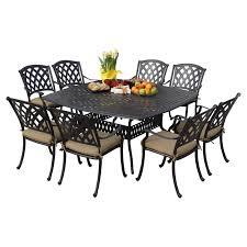 Square Patio Table darlee ocean view aluminum 9 piece square patio dining set hayneedle