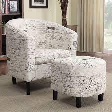 Chair W Ottoman Script Pattern Accent Chair W Ottoman Coaster Furniture