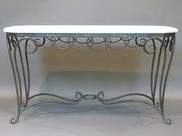 Wrought Iron Console Table Iron Console Table Console Tables Likable Glass And Metal Console
