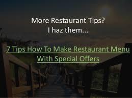 10 restaurant menu design ideas