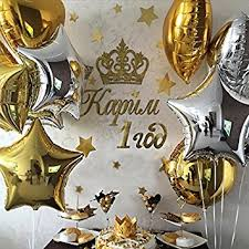 wedding decoration supplies partywoo 18 inch foil balloons 32 packs 100 spot glue