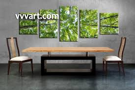 charming canvas wall art sets nature dining room art piece wall