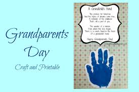 easy grandparents day crafts for kids handprint craft