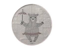 kinderzimmer teppich rund bloomingville kinder teppich rund mit eichhörnchen auf roller rosa