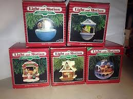5 hallmark light and motion ornaments 1986 1988 antique price