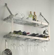 Wall Mounted Kitchen Shelves by Minimalist Kitchen Design With Aluminium Wall Mounted Wine Glass