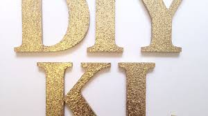 make chic glitter logo letters diy home guidecentral youtube