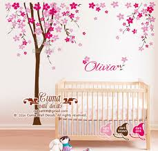 Cherry Blossom Tree Wall Decal For Nursery Home Decorating Images Nursery Wall Decal Cherry Blossom Tree With
