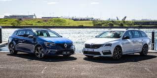 renault hatchback 2017 2017 skoda octavia rs wagon v renault megane gt wagon comparison