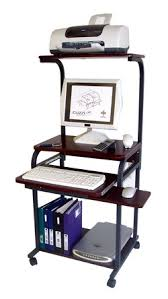 Computer Desk With Wheels Cuzzi Computer Desk Sts 5801a