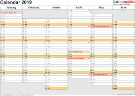 calendar 2019 uk 16 free printable word templates