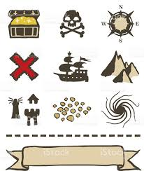 Treasure Map Clipart Treasure Map Icons And Elements Stock Vector Art 165624950 Istock