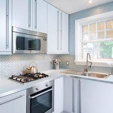 kitchen backsplash ideas with white cabinets houzz 75 beautiful small kitchen with blue backsplash pictures