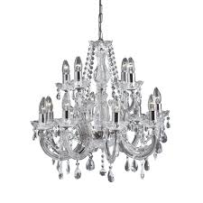 Acrylic Crystal Chandelier Drops by Marie Therese Mink 5 Light Chandelier With Acrylic Glass Drops