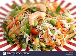 king prawn rice noodle salad stock photo royalty free image