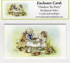 outdoor tea by marjorie tudor enclosure cards tudor