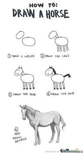 How To Draw Meme - how to draw a horse by suzuli meme center