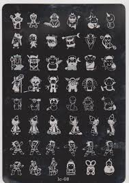 cartoon design stamping plates large stamp image plate french
