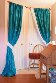 Door Draft Curtain Diy Sewing Room Glam Up Series Closet Door Drapes And Homemade