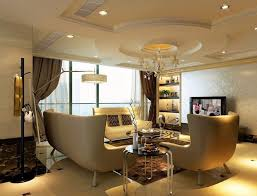 Interior Design Gypsum Ceiling Interior Interactive Modern Living Room Decoration Using White