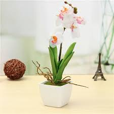 Butterfly Office Decor 30cm Artificial Butterfly Orchid With Pot Simulation Flowers Pot