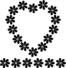Clip Art Flowers Border - black and white images of flowers free download clip art free