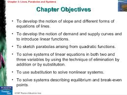 chapter 3 lines parabolas and systems