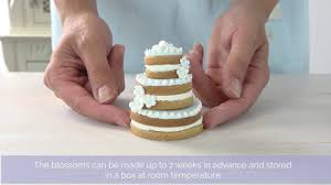 bake club presents how to make tiered wedding cookie cakes youtube