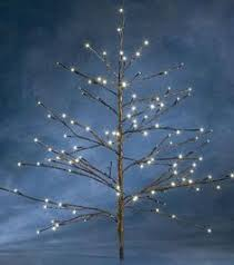small decorative cool white blue blossom style led tree