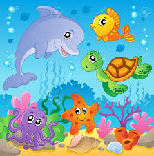 Das Schlafzimmer Clipart Image With Undersea Theme 2 Vector Illustration Royalty Free