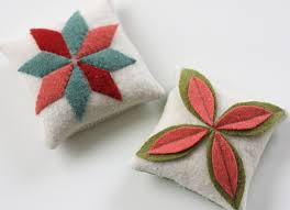 sewing with felted wool