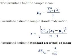 estimate sample standard error se calculator