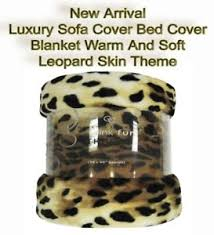 jeter un canapé luxury mink fur throw sofa cover bed cover blanket warm leopard