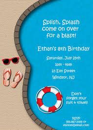 pics for u003e pool party invitations pah tay pinterest