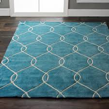 plush interlocking trellis rug saturated color 4 and royal navy