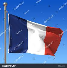 Flag Of Franc Flag France Against Blue Sky Stock Illustration 76596955