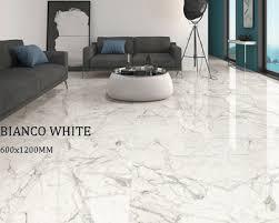 Polished Porcelain Floor Tiles China Suppliers White Calacatta Sparkling Polished Porcelain Floor