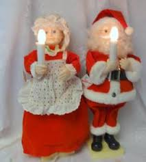 animated santa claus vintage animated mr mrs santa claus lighted telco motion ettes