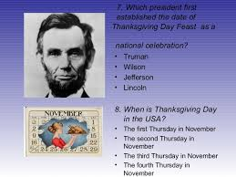When Is Thanksgiving Day In Usa Quiz About Thanksgiving
