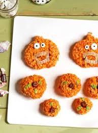 Rice Crispy Treat Pumpkins Halloween Marshmallow Pops The Bearfoot Baker