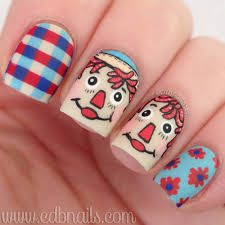 cdbnails raggedy ann and andy nails pure color brush review
