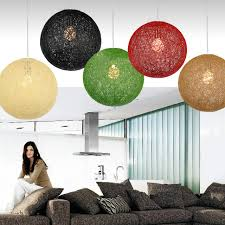 hanging globe lights indoors hanging lights bedroom simple rattan ball l natural handmade