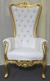 Throne Chair High Back Baroque Carved Throne Chair