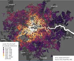 Map Price This Map Shows The Price Of A Square Foot Of Housing In Every